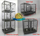 """Homey Pet 43"""" Stackable Dog Cat Heavy Duty Metal Cage w Bowls, Divider, Wheels"""