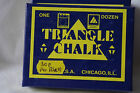 Triangle snooker/pool cue tip chalk- Box Of 12 Blocks - Blue Or Green