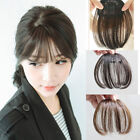 Lady Clip in Front Closure Fringe Bangs Black Real Remy Human Hair Extensions