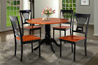 "42"" ROUND DINETTE KITCHEN DINING ROOM TABLE SET W. WOOD SEAT IN BLACK"