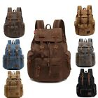 Travel Sport Canvas Backpack Rucksack Camping School Satchel Vintage Casual Bag