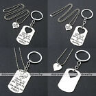 Silver Inline Heart Puzzle Daddy/Mommy Girl's Pendant Keychains Keyring 2pcs/Set