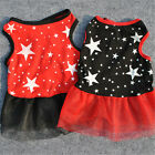 Summer Various Puppy Small Dog Cat Super Srar Dress Pet Apparel Lace Clothes