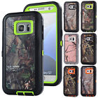 Realtree Camo Shockproof Rugged Case For Samsung Galaxy S5 S6 S7 Edge Note 5 4 3