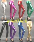 Women's Sexy Shiny Metallic Leggings Liquid Wet Look Pants
