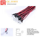 20pcs DC 9-12V 3mm 5mm 8mm 10mm LED Light Emitting Diodes Pre-Wired 20CM Line