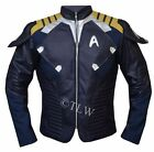 Star Trek Beyond Chris Pine Captain kirk Leather Jacket - All Size - on eBay