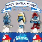 Smurfs Party 15 EDIBLE Vanilla wafer Cupcake Toppers 7 designs PRECUT cup cake