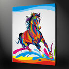 HORSE POP ART CANVAS PRINT PICTURE DESIGN VARIETY OF SIZES AVAILABLE