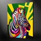 ZEBRA POP ART CANVAS PRINT PICTURE DESIGN VARIETY OF SIZES AVAILABLE