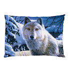 Hot New Animal Snow Wolf Pillow Case Cover free shipping