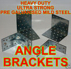 Heavy Duty Galvanised ANGLE BRACKETS  40mm 65mm 80mm 90mm 100mm 2-2.5mm thick