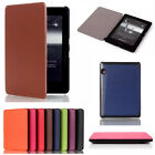 Book Style Ultra Slim Smart Pu Leather Cover Case For Amazon Kindle Voyage 6""
