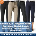Ladies Relaxed 3/4 Pants - Work Business Womens Corporate Sizes 6 - 26 New
