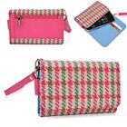 Houndstooth Protective Wallet Case Clutch Cover for Smart-Phones ECAMMT-5