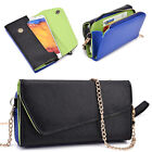 Ladie's PU Leather Wallet Case Cover & Crossbody Clutch for Smart-Phones XLUB7