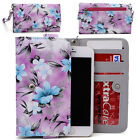 Womens Flower Pattern Wallet Case Cover for Smart Cell Phones by KroO ESMLF-22
