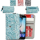 Ladie's Convertible Paisley Smartphone Wallet Cover & Wristlet Clutch ESMLP2-6