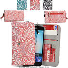 Ladie's Convertible Paisley Smartphone Wallet Cover & Wristlet Clutch ESMLP2-32