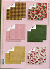 "Pack of 12 x 12"" Scrapbook Papers, 12 sheets per pack,Pastel or Bold Patterns BN"