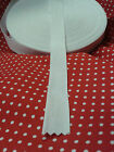 WHITE COTTON BUNTING TAPE 25mm WIDTH  FULL 50METRE ROLLS OR CUT LENGTHS
