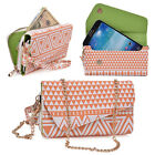 Aztec Form Protective Wallet Case Cover Crossbody Clutch for Smart-Phones X6UC3