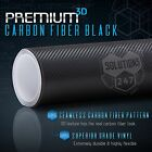 3D Black Carbon Fiber Matte Vinyl Wrap Sticker Decal Film Sheet Air Bubble Free