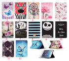 Newest Cute Cartoon printing Stand Flip Leather Cover case for ipad mini 1 2 3