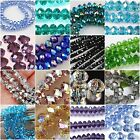 New Multi-color Faceted Crystal Gemstone Loose Beads 4x6mm 6x8mm