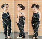 NWT Fashion Girls Kids Toddlers Jumpsuit Playsuit Sling Cute Outfit Size 9M-5Y