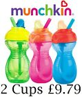 Munchkin Click Lock Flip Straw Cup 10oz/296ml, Toddler/Baby Sippy Cup, 12M+