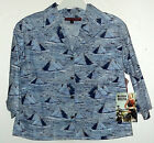 NWT EGYPTIAN PYRAMIDS PRINT BLOUSE by RISKIN & REEDS JR CUT sz S  $100+ value