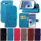 For Samsung Galaxy S3 SIII i9300 Four Leaf Clovers Leather Case Cover With Starp