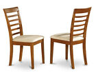 Set of 2 Milan dining chair - Saddle Brown Finish
