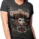 Steady Clothing Women's Disaster Dames T-Shirt Rockabilly Kustom Punk Retro