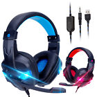 LED Stereo Bass Surround Gaming Headset Mic Headphone for PS4 Xbox One Laptop PC