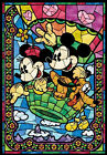 Counted Cross Stitch Pattern or Kit, Disney, Mickey and Minnie Stained Glass,
