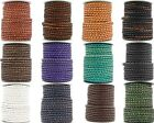 Xsotica  Round Bolo Braided Leather Cord 4 mm 1 Yard Flat Rate Shipping