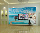 3D Seaside Houses 856 Wall Paper Print Wall Decal Wall Deco Indoor Wall Murals