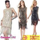 Ladies Deluxe 20s Roaring 1920s Flapper Costume Pearls Sequin Outfit Fancy Dress