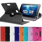 "360° 8in Folio PU Leather Case Cover For Universal Android Tablet PC 8"" w/ Styus"