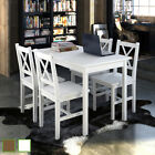 New Quality Wooden Dining Table and 4 Chairs Set Kitchen Furniture White / Brown