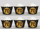 Milestone 70th Birthday Party Wraps Cupcake Cases Cake Wrappers Cup Cake