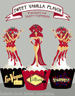 Las Vegas Show Girl Jubilee Follie Dance Costumes party Cupcake Toppers Cup Cake