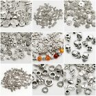 Fashion Silver Plated Loose Spacer Beads Charms For Bracelet Jewelry Making DIY
