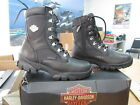 NEW Harley Davidson Womens Leather Boot Boots Shoes Medium Black Hennie