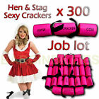 JOB LOT OF 300 SEXY PARTY HEN/STAG CRACKERS CONDOM INSIDE EACH CRACKER