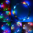 6.5 ft 2M Battery Operated 20 LED string fairy light copper wire Halloween Xmass