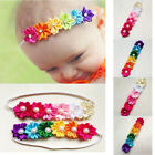 Colorful Fabric Flowers Pearl Rhinestone Hair Sticks Accessories For Children