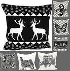 New Animals Printed 100% Cotton Black & white Cushion Covers Throw Pillow 18x18